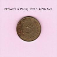 GERMANY   5 PFENNIG  1976 D  (KM # 107) - 5 Pfennig