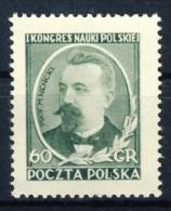 "1951 Poland 1 MNH Stamp ""Doctors"" Michel  697 - 1944-.... Republic"