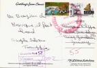 CANCUN 1980? - 2 Fach Frankierung (6,7$) Express Stempel Von Mexiko, Stempel DP Unbekannte Adresse, Auf Ak Greetings ... - Mexiko