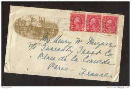 Enveloppe Nuage  The Farragut Rye Beach 1930 Pour Paris - Publicités