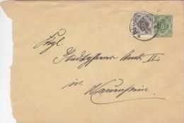 WÜRTT. DU 45 A I A + ZFr. Wü 119, Gestempelt: Neuenstein 4.NOV 1916 - Wuerttemberg