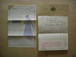 WELLINGTON EGERTON BURNETT ROYAL SERGE WAREHOUSE A REALLY GOOD COSTUME COURRIER ET PUB DE 1916 - Royaume-Uni