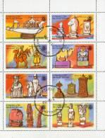 Eynhallow Scotland 1976 - Rotary Anniversary - Bloc Feuillet De 8 Timbres Oblitérés - Local Issues