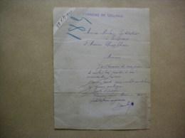 VOULPAIX AISNE COURRIER DE MONSIEUR MARBOIS INSTITUTEUR DU 28 Xbre 1920 - Historische Dokumente