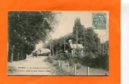 POISSY    1904  LE PASSAGE A  NIVEAU  AVEC TRAIN A VAPEUR   CIRC  OUI - Poissy