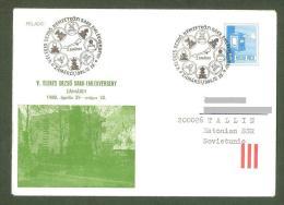Chess Schach Echecs Ajedrez  Hungary 1980 Zamardi CKM 8023 On Souvenir Cover Gone Post To Estonia - Schaken