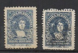 A139 - KOLUMBIEN / COLOMBIA. 1935. MI#: 374A, C . USED, COLUMBUS- 2 PERFORATIONS. - Colombia