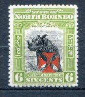 North Borneo 1916  Scott B-6 Perf 14  Rhinoceros MH*VF Part - Noord Borneo (...-1963)