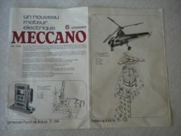 Notice Meccano R�f. 228 - nouveau moteur �lectrique 6 vitesses adaptable sur grue, h�licopt�re, d�capotable , photos,