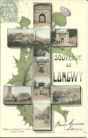LONGWY  - Souvenir De L. Fantaisie Multivues Dans Une Croix De Lorraine                  -- Krémer - Longwy