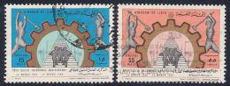 Libya, Scott # 360-1 Used Social Insurance, 1969, #361 Has Corner Crease - Libya