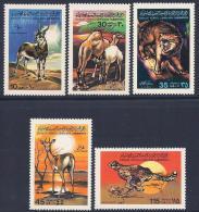 Libya, Scott # 798,801-4 MNH Animals, 1979 - Libya