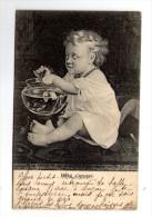 Cp , Bébé , BÉBÉ S´AMUSE , Dos Simple , Voyagée 1904 - Babies