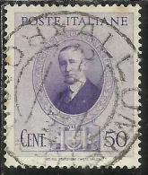 ITALIA REGNO ITALY KINGDOM 1938 GUGLIELMO MARCONI CENT. 50 USATO USED - Usati