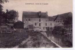 Auffreville.. Animée.. Le Moulin Des Bourgognes.. Moulin à Eau.. Vache - Sonstige Gemeinden