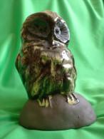 Vintage Scandinavia Sweden Jie Erik Engqvist Retro Ceramic Figurine OWL Bird Svensk Pottery - Birds - Owls