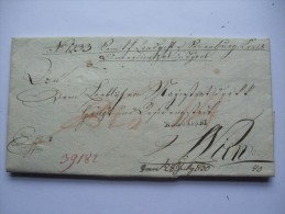 1830 AUSTRIA VORPHILA ENTIRE INNSBRUCK TO WIEN WITH 15 KR FISCAL STAMP - Austria