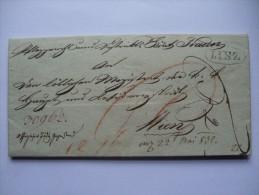 1832 AUSTRIA VORPHILA ENTIRE LINZ TO WIEN - ...-1850 Vorphilatelie