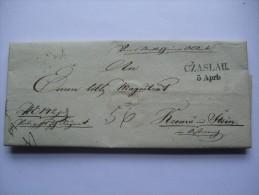 1839 AUSTRIA VORPHILA ENTIRE CZASLAU (CASLAV BOHMEN) TO KREMS - ...-1850 Prefilatelia