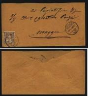 A2783) Schweiz Brief Von Locarno 9.1.1878 Mit EF 5 Rp. Braun - Covers & Documents