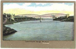 Indooroopilly Bridge, Brisbane Old Colour Postcard - Brisbane