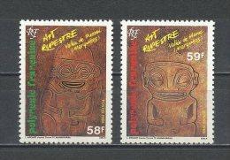 POLYNESIE 1986 N° 259/260 ** Neufs = MNH Superbes Cote 3.20 € Art Rupestre Tikis Gravés Punaei Hane Vallées - French Polynesia