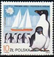 Poland 1987 Mint - Mi#3079 - 10 Zł - Wildlife And Ships - Pigoscelis Adeliae, Yacht Gedania - Antarctic Wildlife