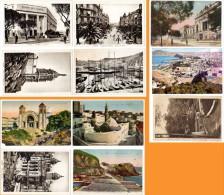 11 Cpa Algérie, Oran : Banque, Chapelle, Port, Fort De La Moune, Mosquée, ... - Oran
