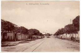 Cpa Algérie, Fort De L'Eau - La Grande Rue (tramway) - Algérie