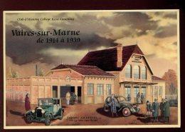 CPM Publicitaire 77 VAIRES SUR MARNE La Gare Illustrateur M. BEKRETAOUI - Otros Ilustradores