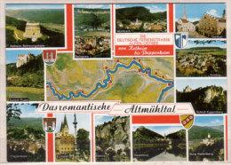 Das Romantische Altmühltal , Mehrbildkarte , Kelheim Befreiungshalle - Beilngries - Mühlbach - Dietfurt - Kindling - - Kelheim