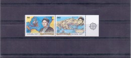 GREECE STAMPS EUROPA 1992/HORIZONTALLY IMPERFORATE(SE-TENANT)-22/5/92 -MNH - Greece