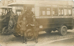 92 -COLOMBES - Compagnie Générale Des Omnibus - Superbe Plan - Rare - Carte Photo - (voir Scans Recto-verso) - Colombes