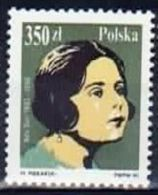 Poland 1990 Mint - Mi#3256 - 350 Zł - Opera Singers - Ada Sari (1882-1968) - Singers
