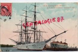"ETATS UNIS - AMERIQUE- US TRAINING SHIP "" SEVERN ""  US NAVAL ACADEMY  ANNAPOLIS MARYLAND -1912 - Annapolis"