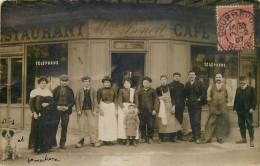 92 -COURBEVOIE -café-restaurant - Maison Benoit - Carte Photo - (voir Scans Recto-verso) - Courbevoie