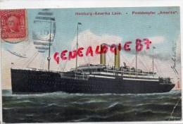 "ETATS UNIS - AMERIQUE- POSTDAMPFER "" AMERIKA ""  HAMBURG AMERIKA LINIE -NEW YORK- SEEPOST 1908 - Présidents"