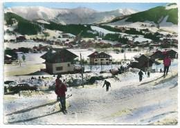 Cpsm: 74 MEGEVE (ar. Bonneville) Le Jaillet Et La Chaine Du Mont Joly  (Voitures Panhard, 203 Peugeot) Skieurs) N° 5919 - Megève