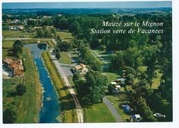 Lin@ CP MAUZE SUR LE MIGNON, VUE AERIENNE SUR LE CAMPING, DEUX SEVRES 79 - Mauze Sur Le Mignon