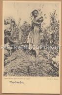 Rhodesia   Batwa-Kvinna  Med Sitt Barn Ryggen   Rh168 - Simbabwe