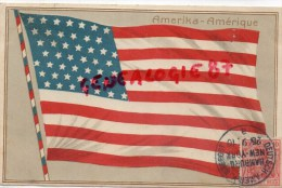ETATS UNIS - AMERIKA AMERIQUE - DRAPEAU  FLAG- DEUTSCH AMERIK SEEPOST 1910 NEW YORK - RARE CARTE GAUFREE - Memphis