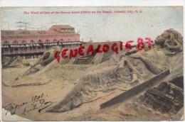 ETATS UNIS - NEW JERSEY - THE WORK OF ONE THE DOZEN SAND ARTISTS ON THE BEACH - ATLANTIC CITY -HIS MASTERS VOICE 1909 - Atlantic City
