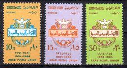 1964, 10e Anniversaire De L'Union Postale Arabe - Libye, YT 252 - 254, Neuf **, Lot 41679 - Poste