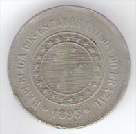 BRASILE 100 REIS 1893 - Brasile