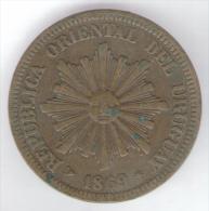 URUGUAY 2 CENTESIMOS 1869 - Uruguay