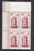 BLOC DE QUATRE  N* 1076 ( Numéroté 97319)NEUF** - Unused Stamps
