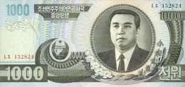 Korea North 1000 Won 2002 Pick 45 UNC - Korea, North