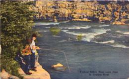 Fishing Below Bass Lake Dam In Roaring River - Etats-Unis