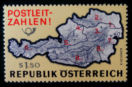 INTRODUCTION DES CODES POSTAUX 1966 - NEUF ** - YT 1036 - MI 1201 - 1945-.... 2nd Republic