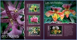 gu14112ab Guinea 2014 Flower Orchids 2 s/s
